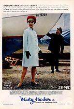 "1966 Misty Harbor the ""Burma"" Fashion Coat and Hat  PRINT AD"