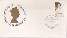 1982 Birthday of Her Majesty Queen Elizabeth II FDC - Annerley Qld 4103 PMK
