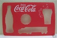 5 Coca Cola Bottle Glass Truck Bottle Cap Coke Stencil