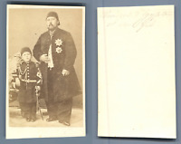 Vice Roi d'Egypte et son fils CDV vintage albumen.  Tirage albuminé  6,