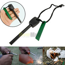 Survival Magnesium Flint Stone Fire Starter Emergency Lighter Kit For Camping #W