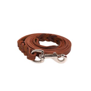 Braided Genuine leather Handmade Dog Lead Strong Dog Leash Excellent Quality