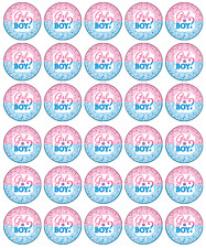 30x Baby Shower Girl Or Boy Cupcake Toppers Edible Wafer Paper Fairy Cake Topper