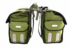 Roswheel Bike Rear Seat Rack Double Panniers Bag Army Green Cool BOOKBAGS