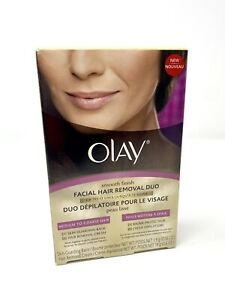 Olay Smooth Finish Facial Hair Removal Duo Medium Coarse Hair Open Box Damaged