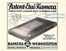 Patent Etui Kamera Werkstätten Dresden Reklame 1928 Guthe & Thorsch Charlston Ad