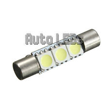 1 White SMD LED 29mm Festoon 12v Interior LED Bulb