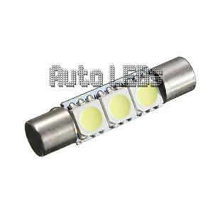 1 White SMD LED 29mm Festoon 12v Interior LED Bulb
