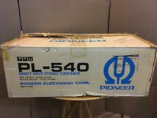 PIONEER PL-540 DIRECT DRIVE TURNTABLE IN BOX