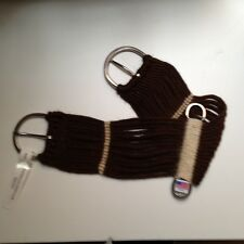 "24"" Alpaca Mohair Western String Girth Cinch Stainless Dees Handmade USA Pony"