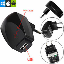 2 PIN 1A EU USB WALL PLUG CHARGER/MAIN ADAPTER FOR SONY XPERIA M5 Dual