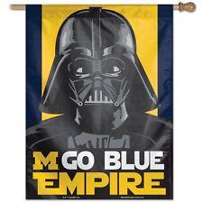 "Michigan Wolverines Go Blue Empire Darth Vader 28""X40"" Banner Flag New Wincraft"