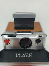 Vintage Polaroid SX-70 Instant Film Land Camera Brown Leather & Chrome