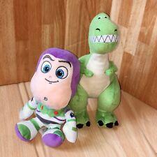 "Disney Toy Story Plush Buzz And Rex 8"" Soft Toys"
