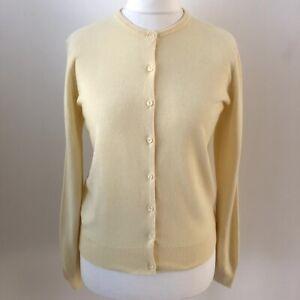 Vintage Debenhams Classics Yellow Lemon Button Down Cardigan Size 12 Rockabilly