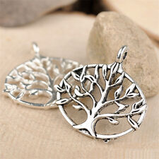10pc Charms Tree Of Life Pendant Accessories Jewelry Making Small Pendants 682H