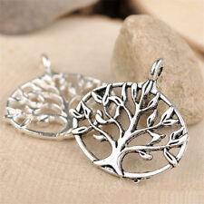 10pc Retro Tibetan Silver Charms Tree Of Life Pendant Beads Jewellery Making