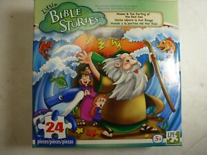 Bible Stories Moses Parting the Red Sea Puzzle 24 pieces Brand New Sealed