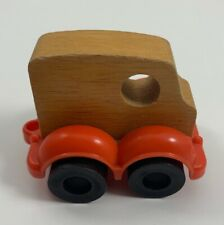 Vintage Mattel 1974 Putt Putt Wood Car With Hitch Red