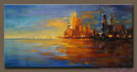 CHOP179 fine hand-painted modern abstract seascape art oil painting on canvas