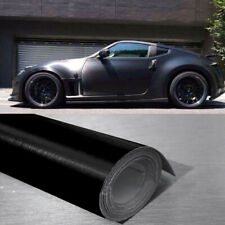 "12""x 60"" Black Brushed Aluminum Vinyl Film Wrap Sticker Decal Air Bubble Free"