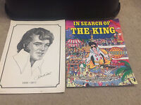 ELVIS PRESLEY IN SEARCH OF THE KING BIG BOOK LIKE WALDO AND 1977 PORTRAIT
