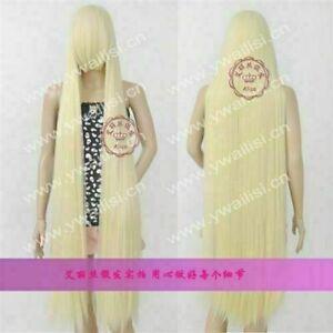 Long: 150cm COS Wig New Fashion Elegant Long Light Blonde Straight Cosplay Wigs