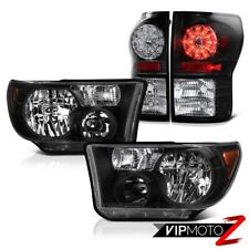 For 2007-2013 Tundra Truck Black Diamond Crystal Headlight+LED Tail Light Lamp