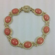 CORAL 14K YELLOW GOLD BRACELET 7.50