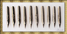 LOTE 10 PLUMILLAS GLOBO - COPPERPLATE - VINTAGE - OLD PENS PLUMES PENNINI