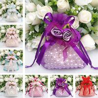20pcs Organza Wedding Party Favor Drawstring Decor Gift Candy Sheer Bags Pouches