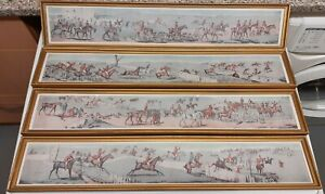 Set of Four Antique Hunting Prints by Henry Thomas Alken after Jean Dean Paul