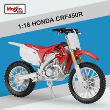 Maisto 1:18 Scale HONDA CRF450R Miniature Motorcycle Diecast Model Toys W Base