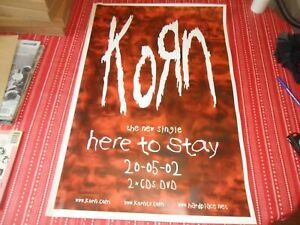 KORN-HERE TO STAY ORIGINAL 2002 PROMO POSTER