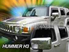 HUMMER H3 5-portes Deflecteurs de vent 2-pièces HEKO Bulles