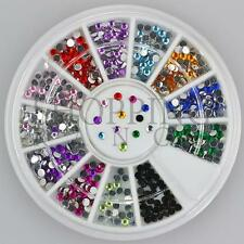 Nail Rhinestones Gems Art Diamante Fashion Glitter Jewels Multi Colour Round 2mm