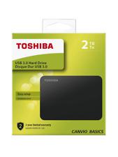 "Toshiba Canvio 2TB, 2.5"" Disco Rigido Esterno (HDTB420EK3AA)"
