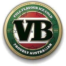 VB BEER VIC BITTER DECAL STICKER LABEL  DIA LARGE 240 MM HOT ROD FRIDGE BAR