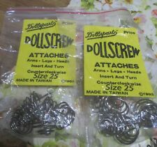 IMSCO AND DOLLSPART 8 SCRUGGLE 4 SIZES ATTACHS HEAD ARMS OR LEGS SCREW IN