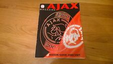 2000-01 Ajax magazine season Guide