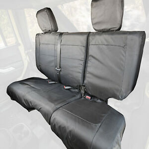 2 Pack 2 Door 2007-2010 Jeep Wrangler JK Rugged Ridge 13294.01 Black Seat Cover Kit