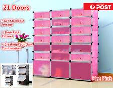 21 Doors Shoe Cabinet Rack Portable Stackable Storage Clothes Toys Organizer PK
