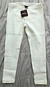 NWT TEA Collection Girls Ivory Leggings Size 5