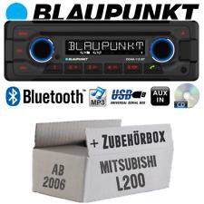 Blaupunkt Radio für Mitsubishi L200 ab 2006 Bluetooth CD MP3 USB Einbauzubehör