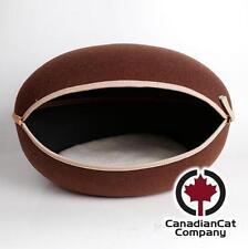 Das Katzennest braun Katzenhöhle Katzenbett Design modern groß Filz Katzenkorb