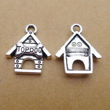 10pcs Charms Dog Pet's House Antiqued Silver Beads Pendant Diy Bracelet 17*20mm