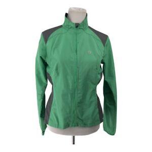 Pearl Izumi Womens Jacket Green Gray Size M Cycling Windbreaker