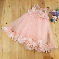 Flower Girls Kids Baby Princess Pageant Wedding Party Lace Tulle Tutu Dresses