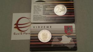 coin card 2 euro 2018 LETTONIA Zemgale Semgallia Lettonie Lettland Latvia Латвия
