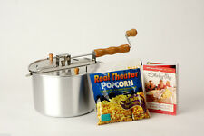 6 qt Silver Whirley Popcorn Popper With Popping Kit